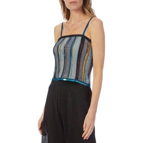 Missoni Blue Multi Stripe Sparkle Vest Top