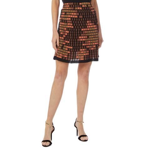 M Missoni Multi Square Woven Wool Blend Skirt