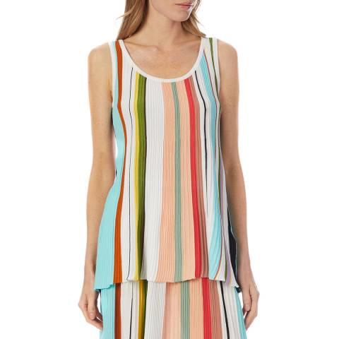 Missoni Multi Stripe Cotton Pleated Vest Top