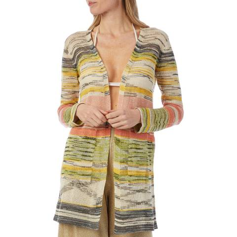 Missoni Multi Stripe Cashmere Blend Cardigan