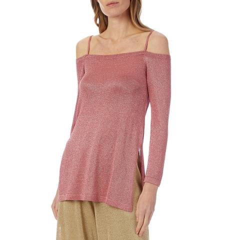 Missoni Pink Sparkle Off Shoulder Top