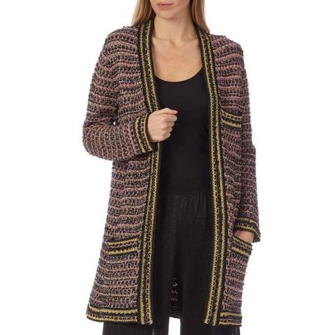 M Missoni Multi Zigzag Wool Blend Mid Length Jacket