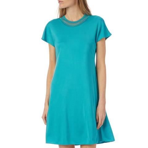M Missoni Blue Mesh Skater Dress