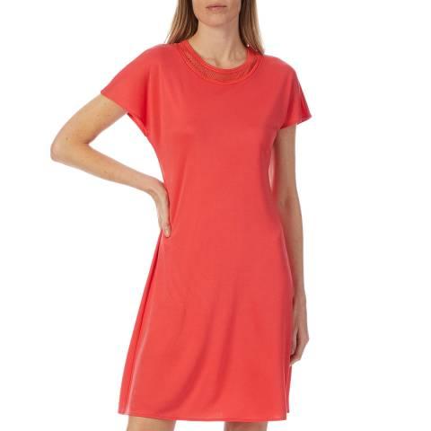 M Missoni Red Mesh Skater Dress