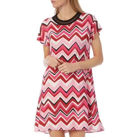 M Missoni Pink Multi Zigzag Dress