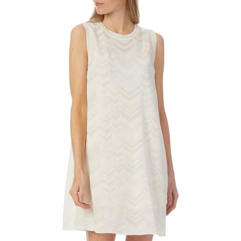 M Missoni White Woven Skater Dress