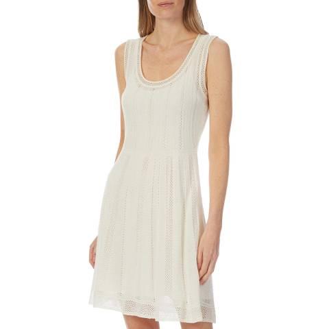 M Missoni Cream Woven Skater Dress