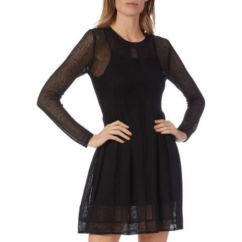 M Missoni Black Woven Skater Dress
