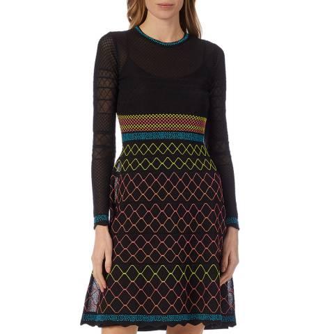 M Missoni Black Multi Knitted Dress