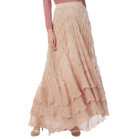 Missoni Pink Knitted Maxi Skirt
