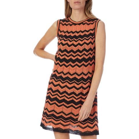 M Missoni Orange Multi Jaquard Dress
