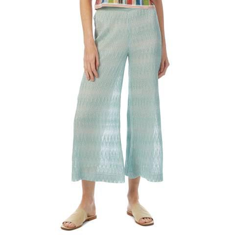 Missoni Blue Jaquard Wide Leg Culottes