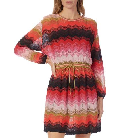 M Missoni Multi Stripe Flippy Dress