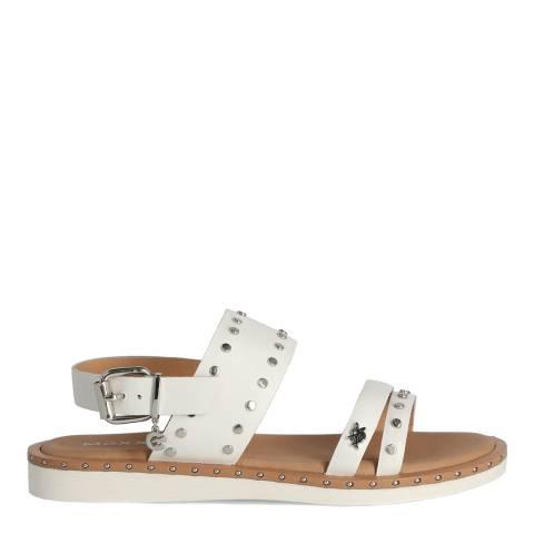 Mexx White Leather Eugenie Sandal