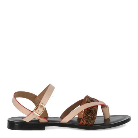 Mexx Beige Leather Emre Sandal