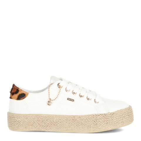 Mexx White Canvas Sneaker
