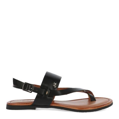 Mexx Black Leather Evelinn Sandal