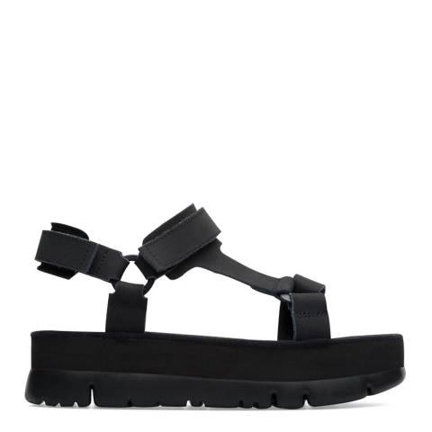 Camper Black Oruga Sandals