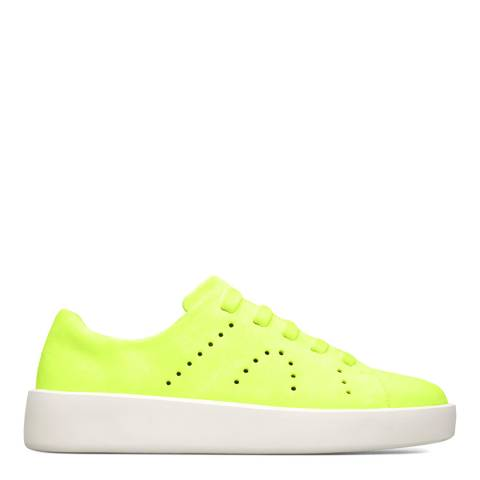 Camper Yellow Courb Leather Sneakers