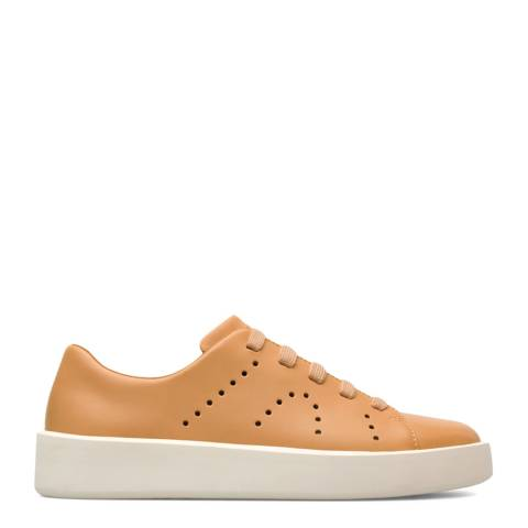 Camper Orange Courb Leather Sneakers