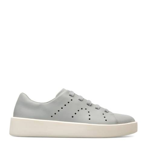 Camper Grey Courb Leather Sneakers