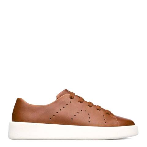 Camper Brown Courb Leather Sneakers