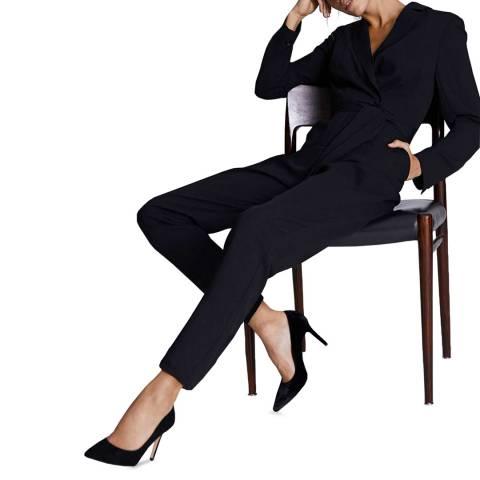 Mint Velvet Black Tuxedo Jumpsuit