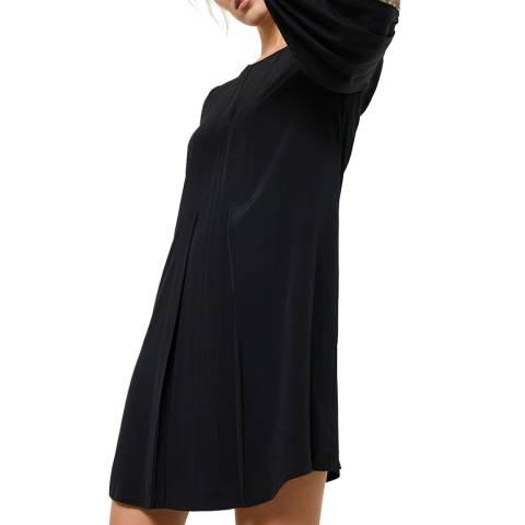 Mint Velvet Black Sequin Trim Mini Dress