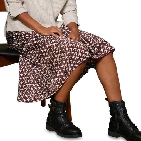 Mint Velvet Multi Print Slip Midi Skirt