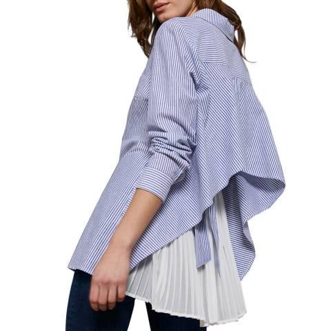 Mint Velvet Blue Striped Layered Shirt