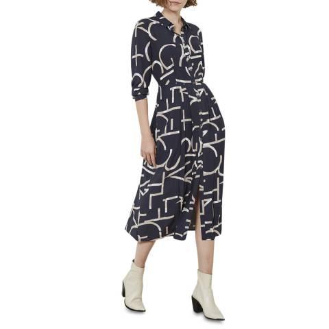 Mint Velvet Multi Print Shirt Midi Dress