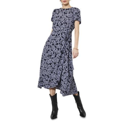 Mint Velvet Multi Floral Print Midi Dress
