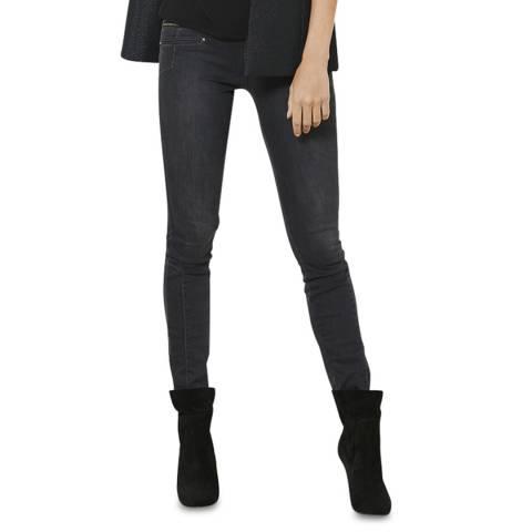 Mint Velvet Black Shimmer Slim Trousers