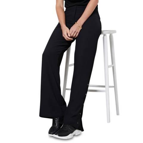 Mint Velvet Black Split Wide Leg Trousers
