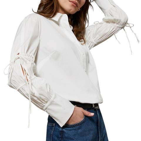 Mint Velvet White Tie Sleeve Shirt