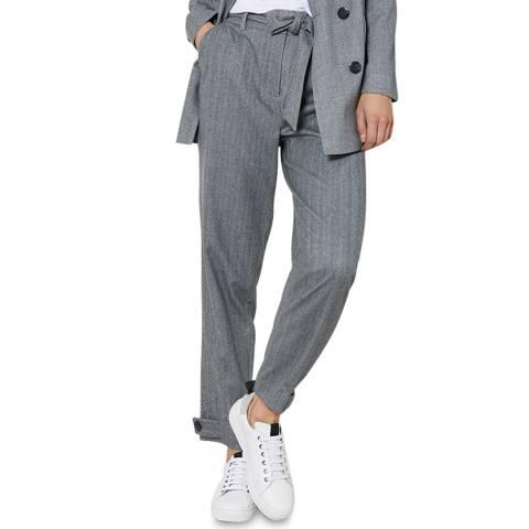 Mint Velvet Grey Slim Tie Waist Trousers