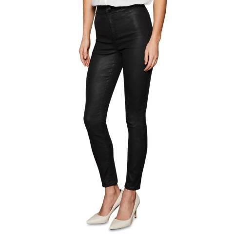 Mint Velvet Black Coated Cotton Jeans