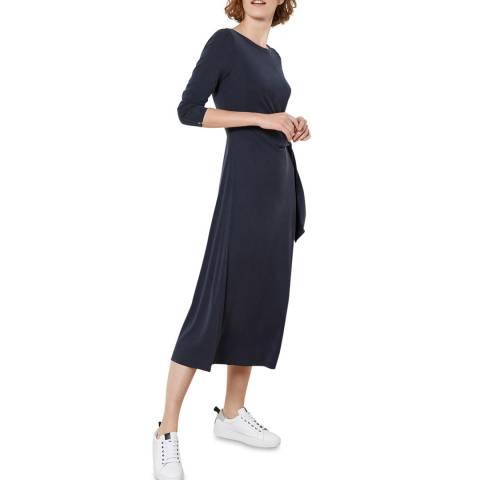 Mint Velvet Navy Tie Front Jersey Dress