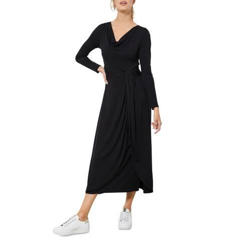 Mint Velvet Black Twist Jersey Midi Dress
