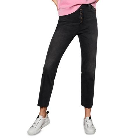 Mint Velvet Black Straight Fit Cotton Jeans