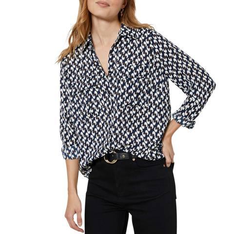 Mint Velvet Multi Fia Geo Print Shirt