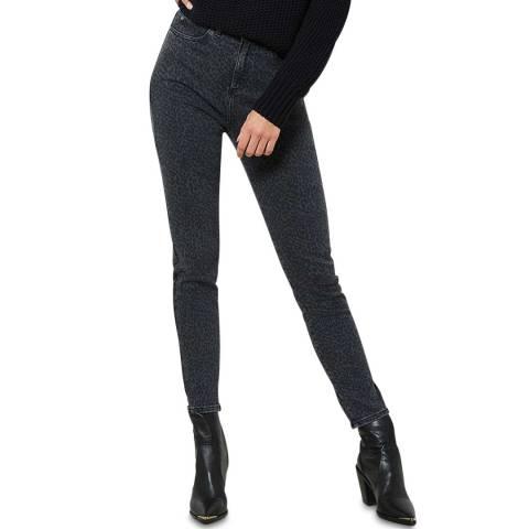 Mint Velvet Grey Leopard Cotton Skinny Jeans