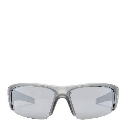 Nike Men's Grey/Silver Nike Sunglasses 64mm