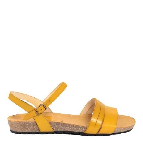 Piemme Yellow Multiple Strap Flat Sandal