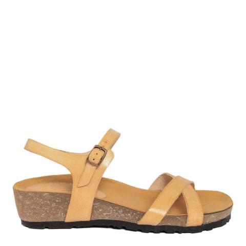 Piemme Beige Double Strap Sandal