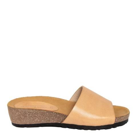 Piemme Beige Wide Strap Sandal
