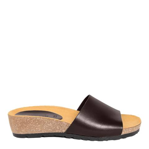 Piemme Brown Wide Strap Sandal
