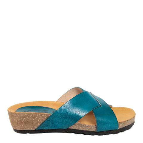 Piemme Blue Crossover Strap Sandal