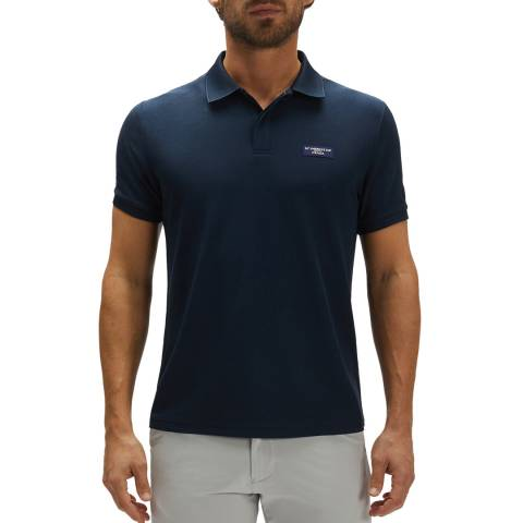 AC36 BY PRADA AC36 By Prada Navy Cotton Polo Shirt