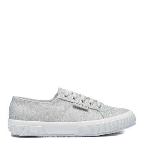 Superga Silver 2750 Jersey Lurex Sneakers